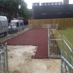 Rubberised Playground Bark Installer in Anstey 4