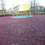 Rubberised Playground Bark Installer in Anstey 6