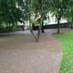 Rubberised Playground Bark Installer in Abbey Gate 9