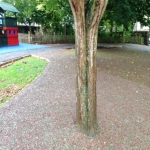 Rubberised Playground Bark Installer in Cardiff 2