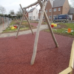 Rubberised Playground Bark Installer in Abbey Gate 2
