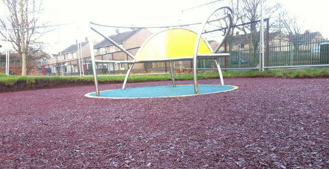 Rubber Playground Mulch in Arboe