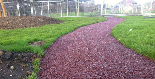 Recycled Rubber Walkways in Argoed